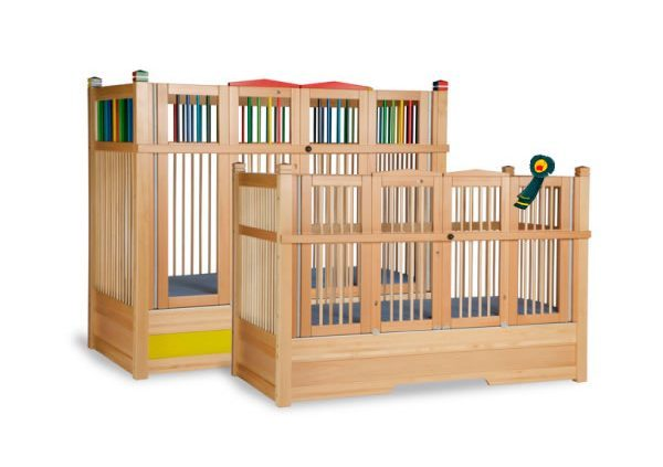 wooden high sided cots