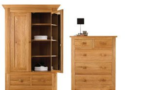 oak wardrobes and drawers