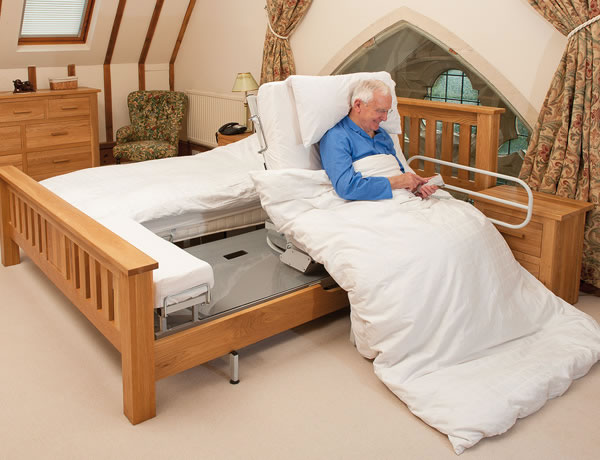 Oak adjustable bed for two people & Bespoke Adjustable Beds | Adjustable beds rotational beds care ... islam-shia.org