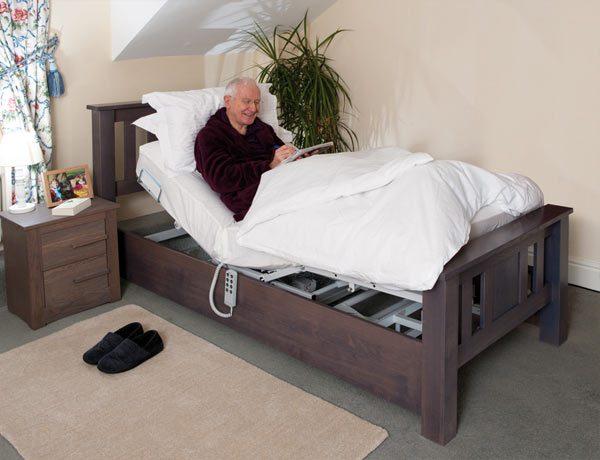 Oak Adjustable Bed For One Person Bespoke Adjustable Beds