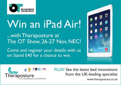Theraposture to partner with Newlife charity and offer iPad