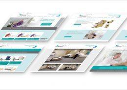 Isometric website screens