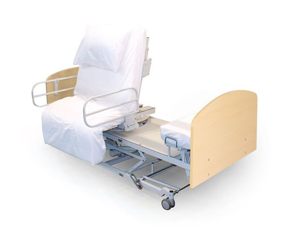 Rotating bed with separate foot section