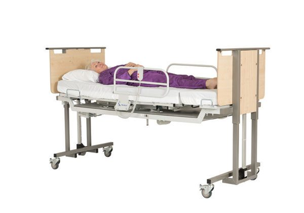 Electric height adjustable bed - raised position