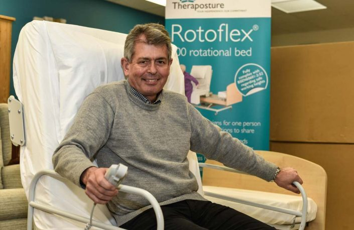 David Holtum using a rotoflex bed