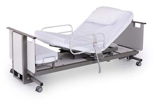 Rotoflex community hospital bed in profile position