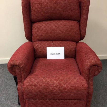 Red Dual Motor Riser Recliner Chair