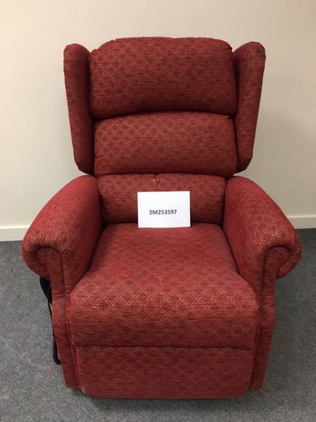 Red Dual Motor Riser Recliner Chair