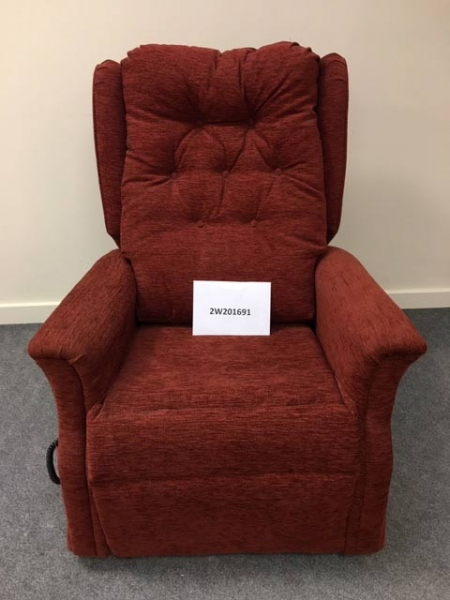 Single Motor TIS Riser Recliner Chair in red
