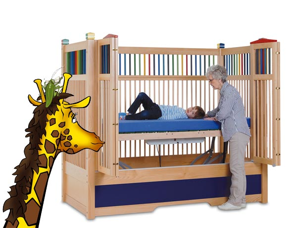 Hannah tall cots with giraffe