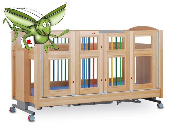 Mascot cot with grasshopper