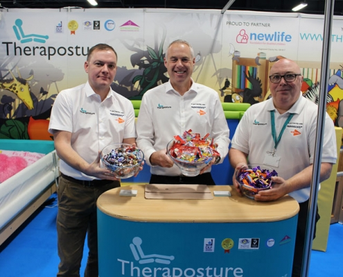 Theraposture team with chocolates